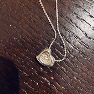 Silver Crystal Heart Necklace